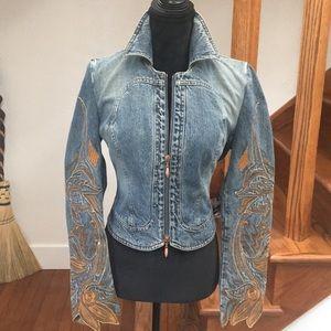 Roberto Cavalli Denim Jacket, Embroidered